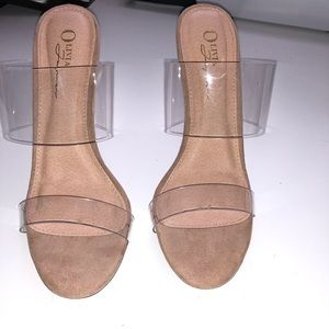 Clear Mule Heels